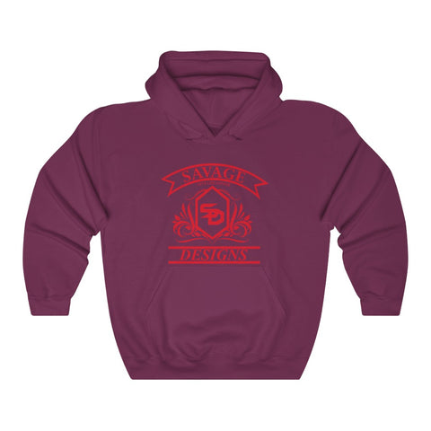 Savage Designs Diamond Floral Red Hoodie- 3 Colors