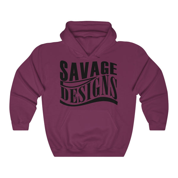 Savage Designs Warped Curve Black Hoodie- 9 Colors