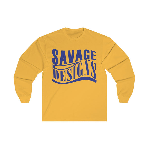 Savage Designs Warped Curve Royal Blue Long Sleeve- 3 Colors
