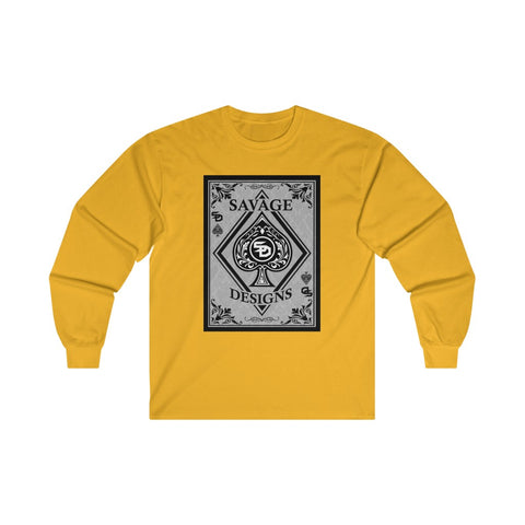 Savage Designs Ace of Spade Long Sleeve- 3 Colors