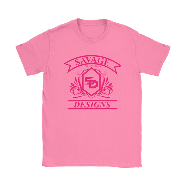 Savage Designs Diamond Floral Hot Pink- 8 Colors