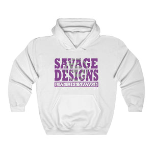 The Savage Within Purple/Grey Hoodie- 2 Colors