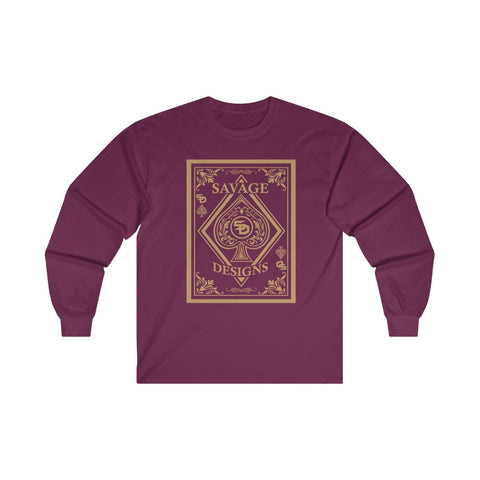 Savage Designs Ace of Spade Tan Long Sleeve- 2 Colors