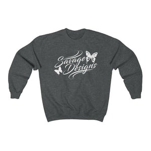 Savage Designs Butterfly Elegance White Sweatshirt- 4 Colors