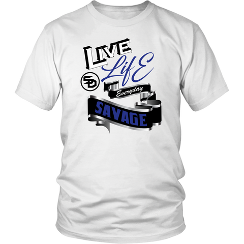 Live Life Everyday Savage White/Black/Royal Blue/Silver- 5 Colors