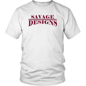 Savage Designs Classic Modern T-shirt Maroon- 8 Colors