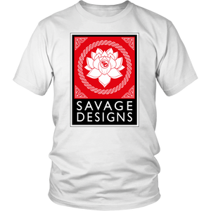 Savage Designs Lotus Flower Red/White/Black- 7 Colors