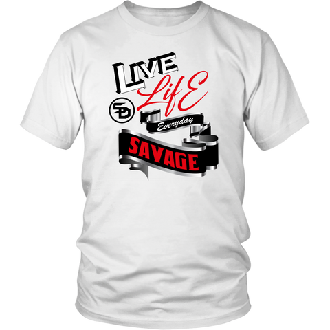 Live Life Everyday Savage White/Black/Red/Silver- 4 Colors