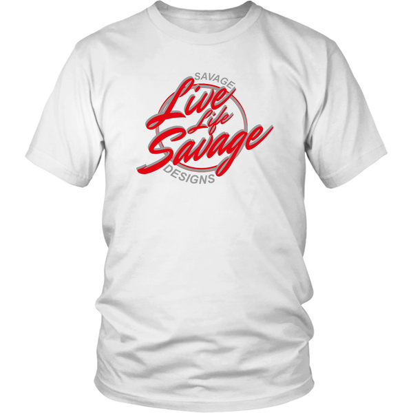 Savage Designs Live Life Savage Calligraphy Red/Grey- 7 Colors