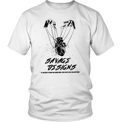 Savage Designs Heart Strings T-Shirt Black- 15 Colors
