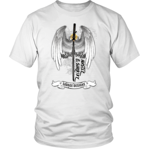 Savage Designs Sword and Angel Wings- 1 Color
