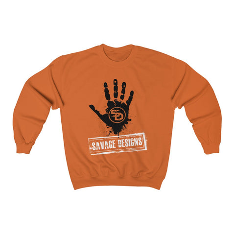 Savage Designs Handprint Stamp Black/White Sweatshirt- 5 Colors