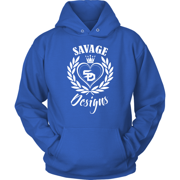 Savage Designs Heart of Hearts White Hoodie- 11 Colors