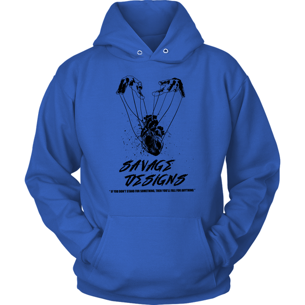 Savage Designs Heart Strings Black Hoodie- 11 Colors