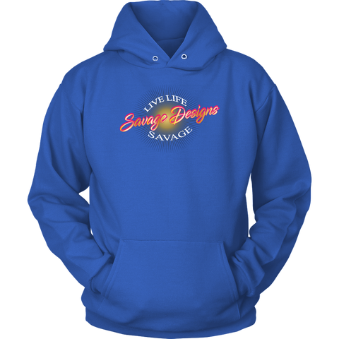 Savage Designs Sunray Flare Hot Pink and Gold Hoodie- 7 Colors