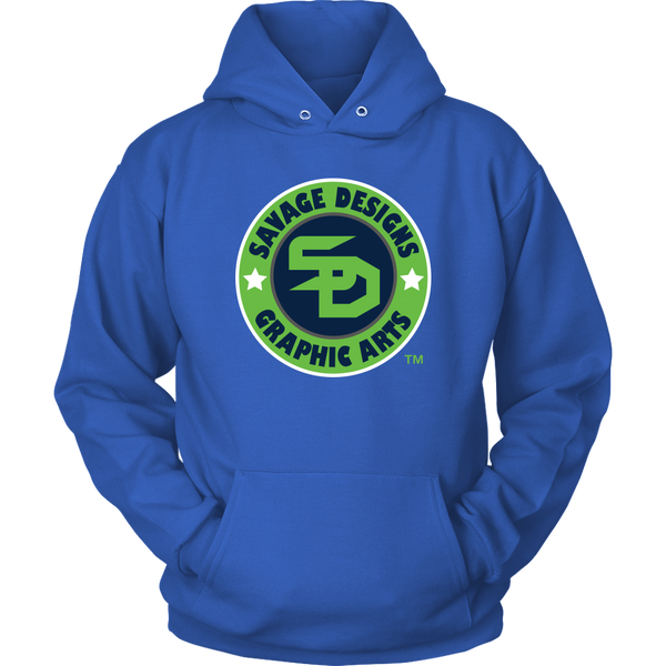 Savage Designs Symbol Patch Lime Green/Navy/White Hoodie- 7 Colors