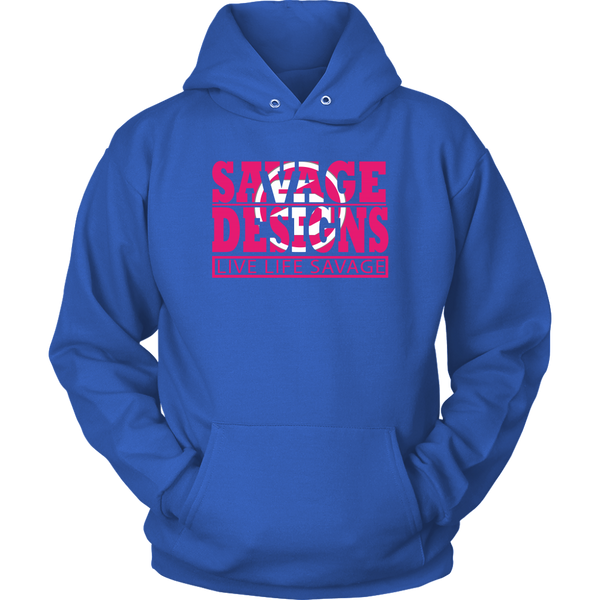 The Savage Within Hot Pink/White Hoodie- 7 Colors