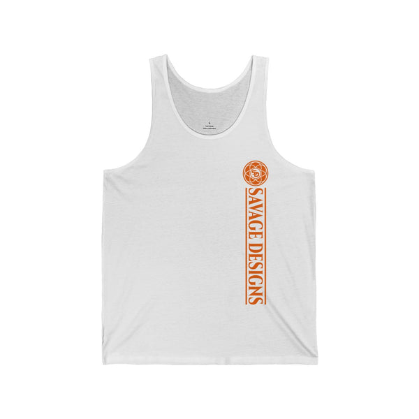 Savage Designs Egyptian Seed of Life Orange Tank Top- 7 Colors