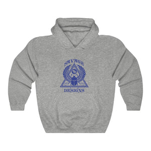 Savage Designs Eygptian Scarab Bettle Royal Blue Hoodie- 3 Colors