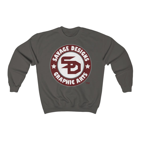 Savage Desihns Symbol Patch Burgundy/White/Grey Sweatshirt- 3 Colors