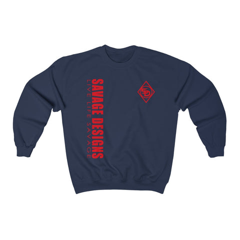 Savage Designs Triple Threat Red Sweatshirt- 8 Colors