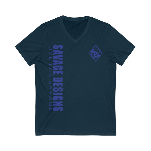 Savage Designs Triple Threat Royal Blue V-Neck- 7 Colors