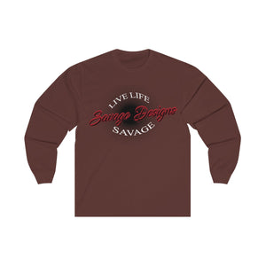 Savage Designs Sunray Flare Black and Red Long Sleeve- 1 Color