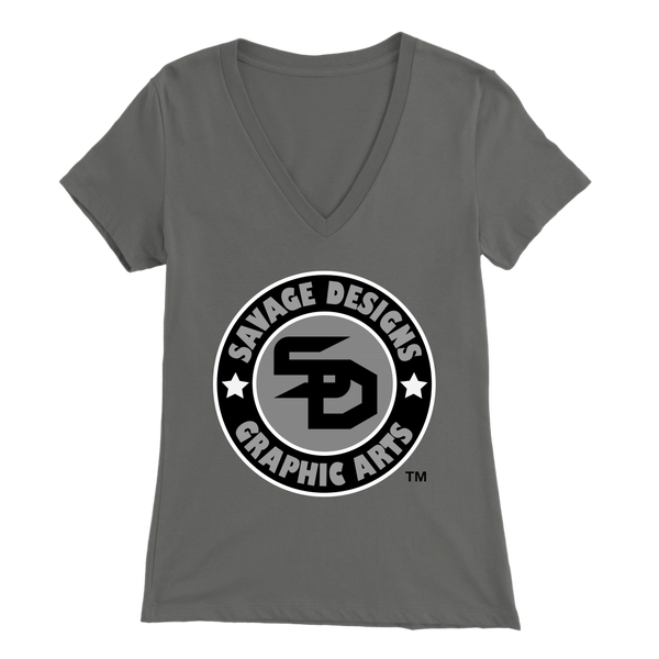 Savage Designs Symbol Patch Black/Grey/White V-Neck- 11 Colors