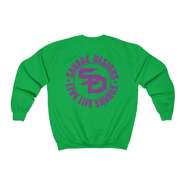 Savage Designs Triple Threat Purple Sweatshirt- 8 Colors