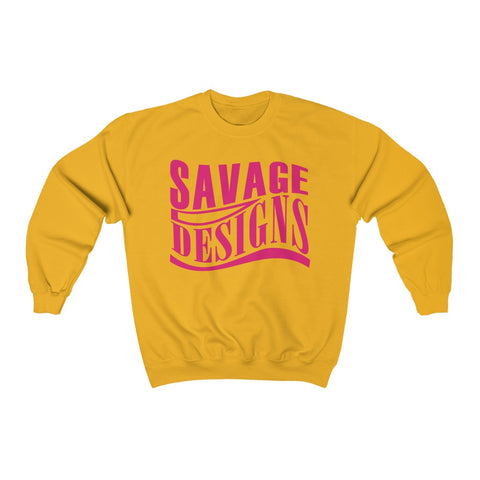 Savage Designs Warped Curve Hot Pink Sweatshirt- 3 Colors