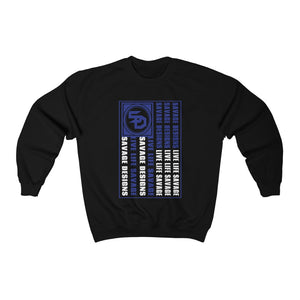 Savage Designs Flag Royal Blue/White Sweatshirt- 5 Colors