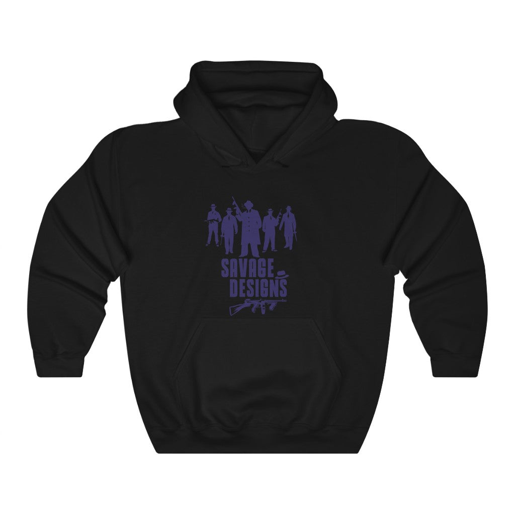 Savage Designs Mob Mafia Navy Hoodie- 2 Colors