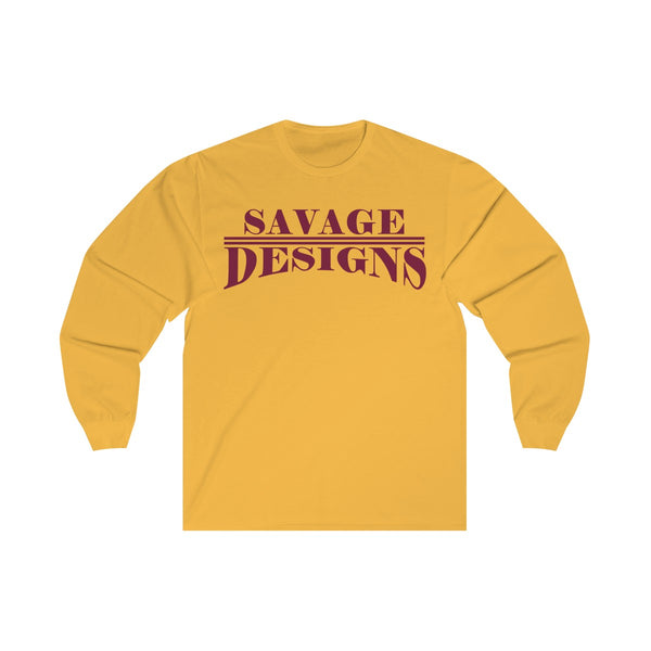 Savage Designs Classic Modern Maroon Long Sleeve- 2 Colors