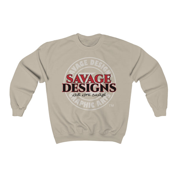 Savage Designs Faded Symbol Red/Black/White Sweatshirt- 5 Colors