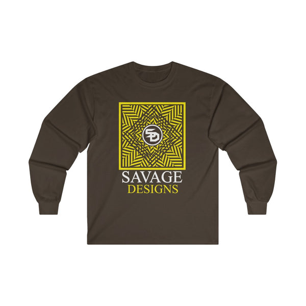 Savage Designs Optical Illusion Yellow/White Long Sleeve- 2 Colors