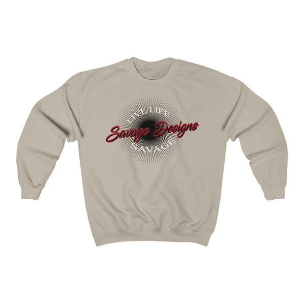 Savage Designs Sunray Flare Black and Red Sweatshirt- 6 Colors