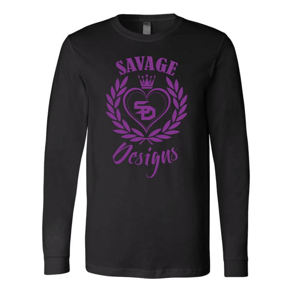 Savage Designs Heart of Hearts Purple Long Sleeve- 6 Colors