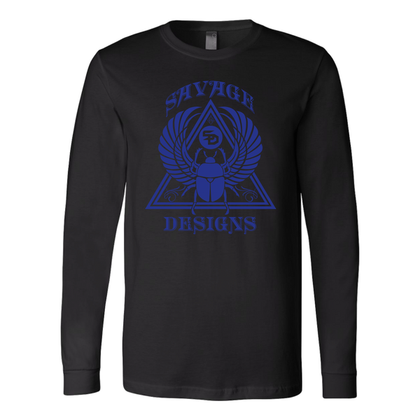 Savage Designs Eygptian Scarab Bettle Royal Blue Long Sleeve- 8 Colors