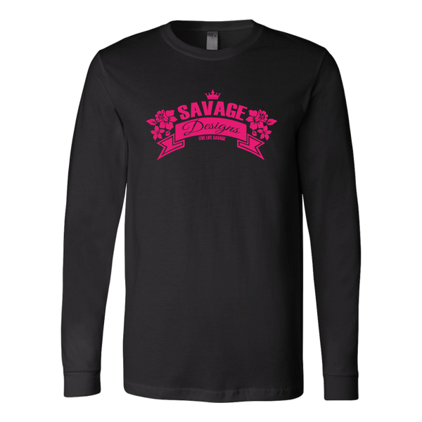 Savage Designs Royal Blossom Hot Pink Long Sleeve- 8 Colors