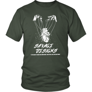 Savage Designs Heart Strings T-Shirt White- 15 Colors