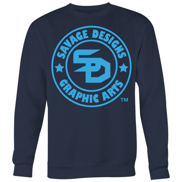 Savage Designs Original Symbol/Live Life Savage Front and Back Print Sweatshirt- 7 Colors