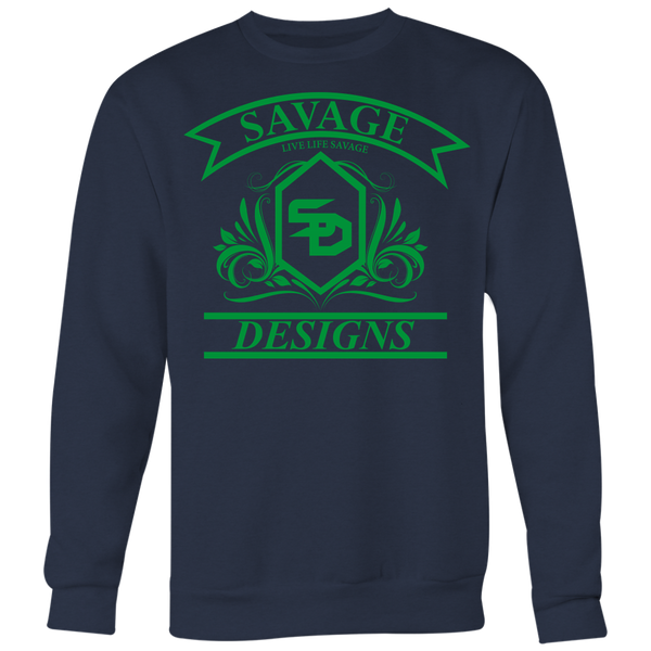Savage Designs Diamond Floral Green Sweatshirt- 9 Colors