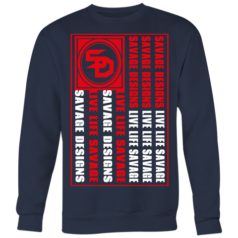 Savage Designs Flag Red/White Sweatshirt- 6 Colors
