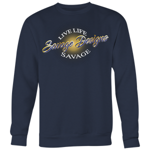 Savage Designs Sunray Flare Royal Blue and Gold Sweatshirt- 7 Colors