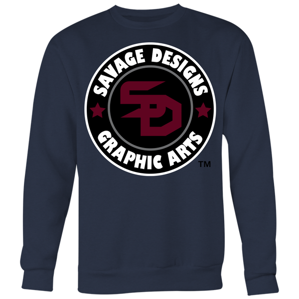 Savage Designs Symbol Patch Maroon/Black/White Sweatshirt- 4 Colors