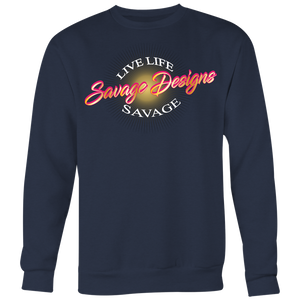Savage Designs Sunray Flare Hot Pink and Gold Sweatshirt- 6 Colors