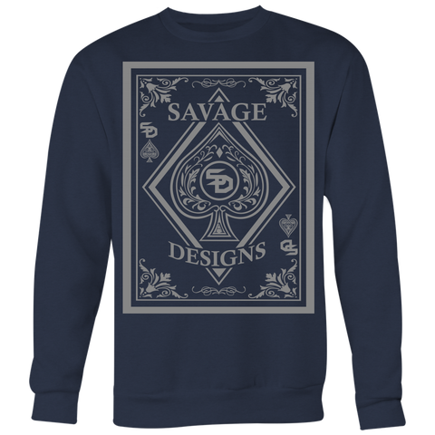 Savage Designs Ace of Spade Grey Sweatshirt- 8 Colors