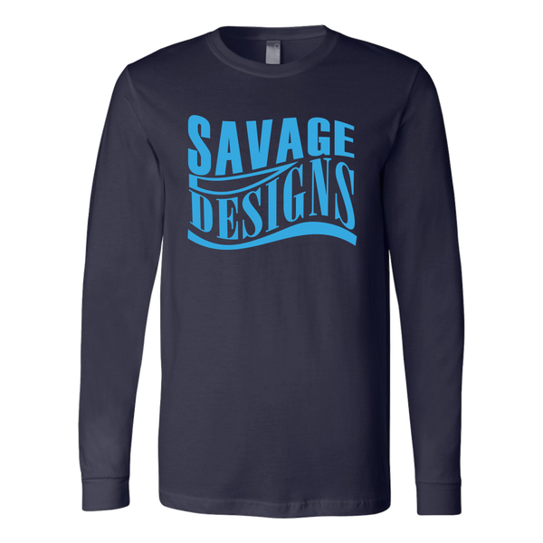 Savage Designs Warped Curve Turquoise  Long Sleeve- 10 Colors