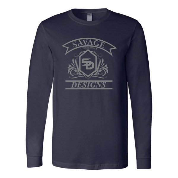Savage Designs Diamond Floral Grey Long Sleeve- 9 Colors