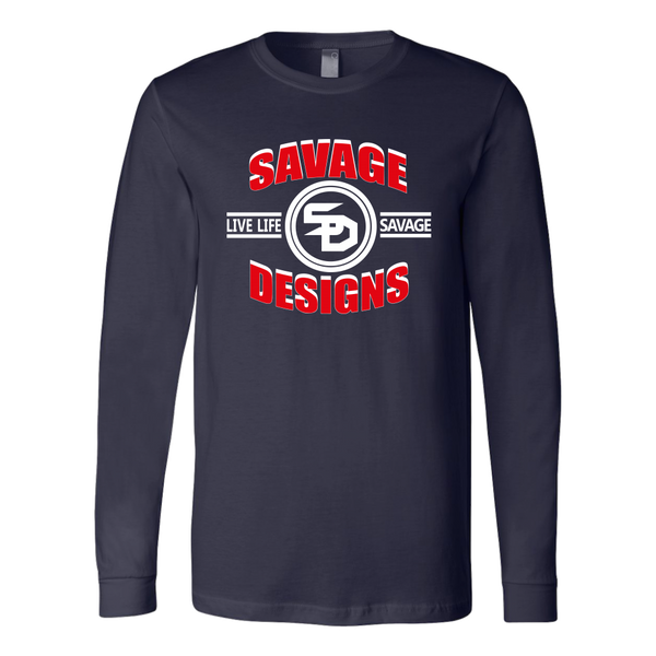 Savage Designs Dead Focus Red/White Long Sleeve- 8 Colors